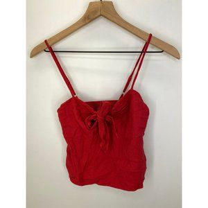 Brandy Melville Sleeveless Crop Tops Red Size One